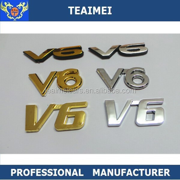 Custom Chrome Nameplate Logo Car Body Sticker Emblem Badges