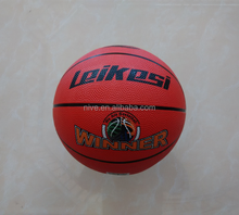 NIVE orange cheap promotional colorful size 5 rubber basketball