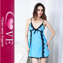 Newest Blue Erotic Sexy Nighties For Women's Lace Sexy Intimate Lingerie