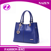 China Supplier Office Party Women Cross Pattern Leather Hand Bags