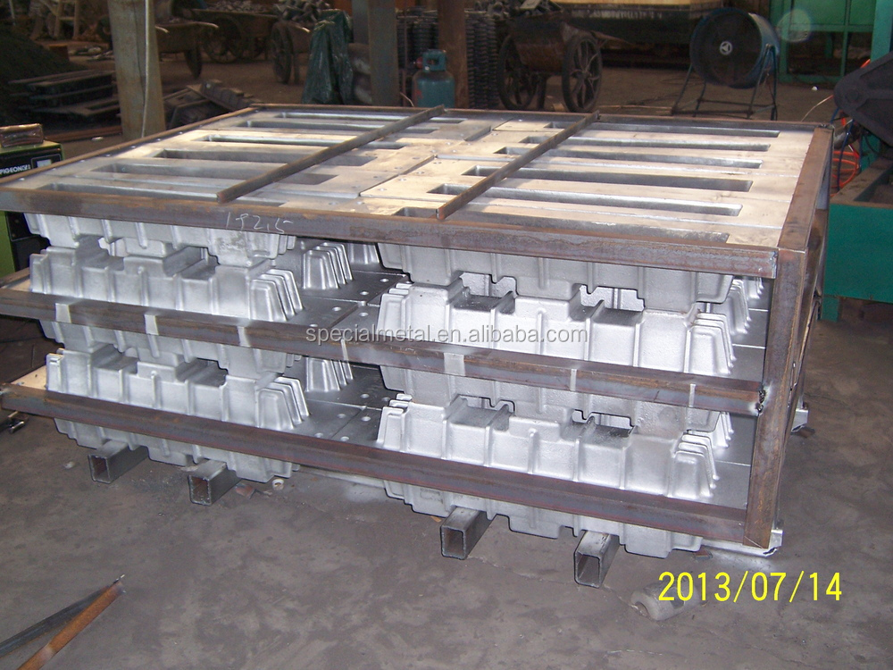 OEM gray pig iron cast ingot mould