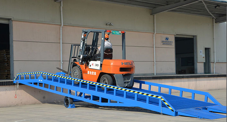 Europe standard container used hydraulic mobile loading ramp dock ramps