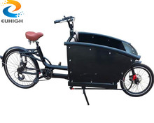 Aluminum frame front loading cargo bike bicycle