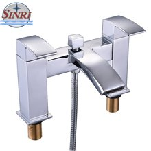 Unique Design From Zhejiang Double Handles Brass Material Bath Faucet Mixer For shower room