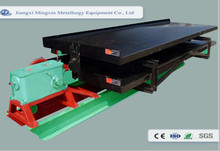 High recovery rate tin concentrate shaking table