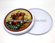 Round color tin tray, tin bar tray, tin fruit tray