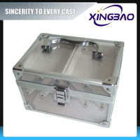 Aluminum lighting makeup case with stand,acrylic men cosmetic bags prices,transparent cosmetic case set online