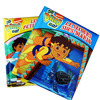 Print english learning board book children book manufactured