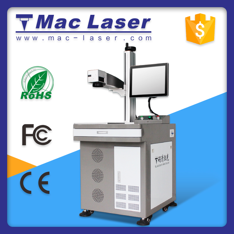 MAC Best quality Economic 10 Watt high-precision optical fiber laser Engraving machine, stainless steel jewelry metal marking