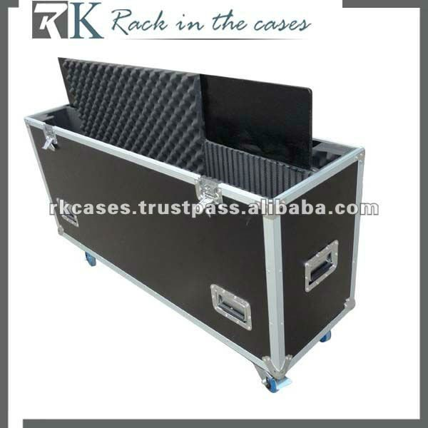 "Toppest 40""-42"" plasma tv flight case with foam adjustable"