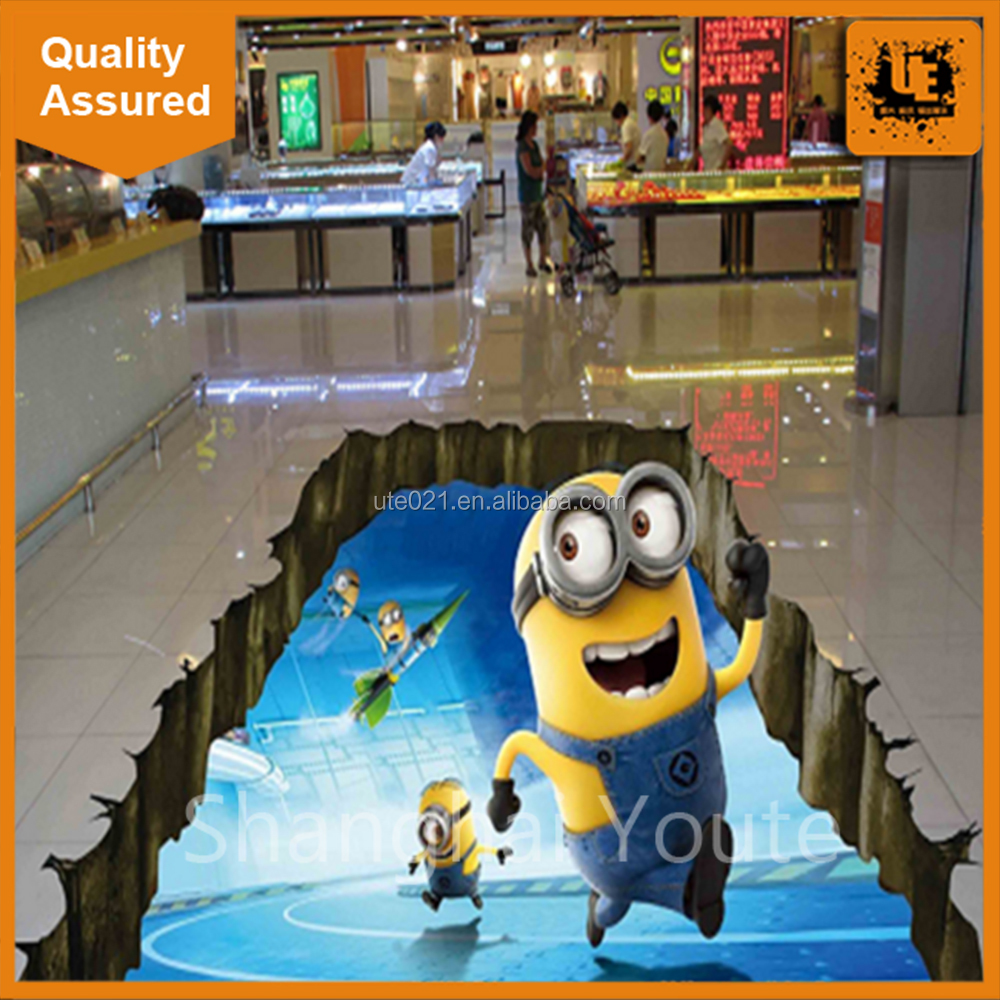 Great quality custom advertising/decorative 3d floor sticker printing with great price
