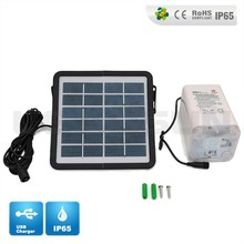 Mini 6w photovoltaic solar energy system led light source solar kits