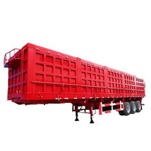 good quality 3 axle dry cargo box van semi trailer for sale