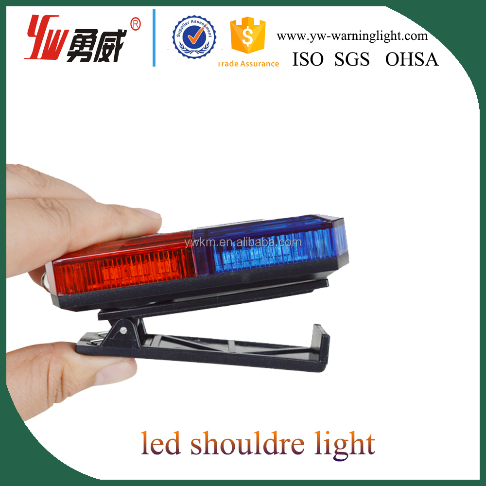 cheap two sides led flashing warning led police shoulder light