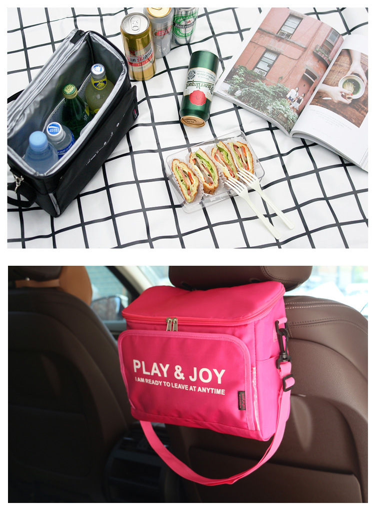 new large ice bag thick picnic insulated cooler bag vehicular car refrigerator storage organizer room package bag