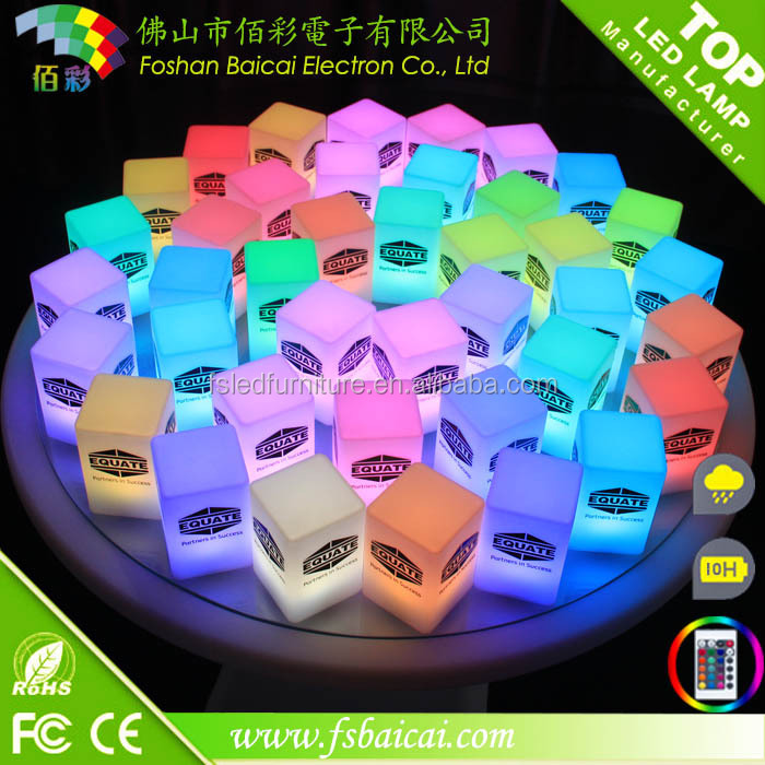 Popular Colorful LED Magic cube/LED ice cube for nightclub/bar