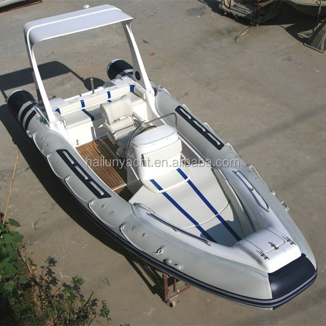 (CE) Inflatable rib hypalon boat with motor for sale