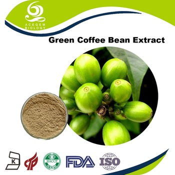 Professional food grade Nature 100% Green coffee bean extract For Tablet
