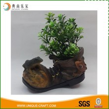 Waterproof Resin Gecko Shoe Garden Flower Pot