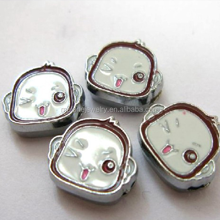 DIY lovely monkey head slide charms animal shaped 8mm inexpensive charms