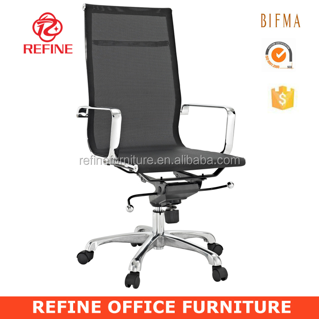 hot sales black modern emes style high back wire mesh office chair with armrest RF-S083A