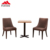 Modern commerical uesd hotel square restaurant melamine dining table for indoor