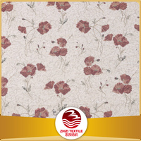 jacquard red leaf curtain fabric