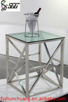 Square Stainless Steel Banquet Table/Tea-Break Table