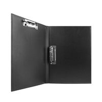 Leather A4 Lever Arch File Cover Clipboard Paper Documents Storage Folders Double Binder Clip Portfolio PU Drawing Folder