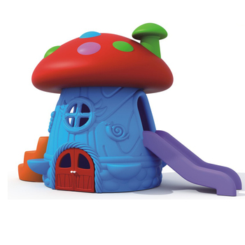 China playground wholesale creative design playground Mushroom playhouse with slides HFB075-02