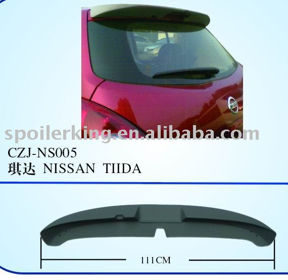 Abs rear spoiler for TIIDA ' 02-09