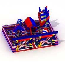 High quality Imagination building blocks colorful indoor playground for children