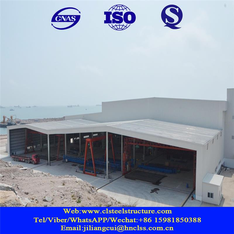 Two story prefabricated steel structure building warehouse drawings for car parking