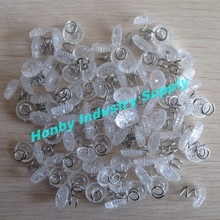 13mm Clear Plastic Head Twist Lock Corkscrew Pins for Fastening