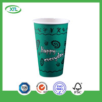 6oz double wall paper custom print cups eco-friendly anti-scaled paperboard for christmas manufacture