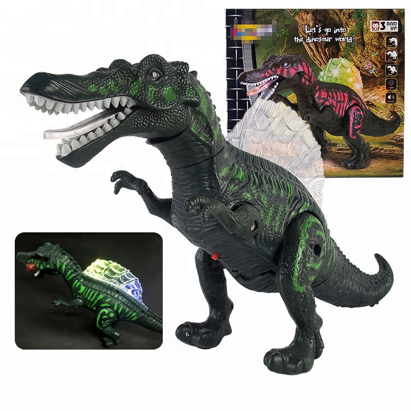 2017 Wholesale Electronic Spinosaurus Dinosaur Toy <strong>w</strong>/Lights Sounds & Walking Action