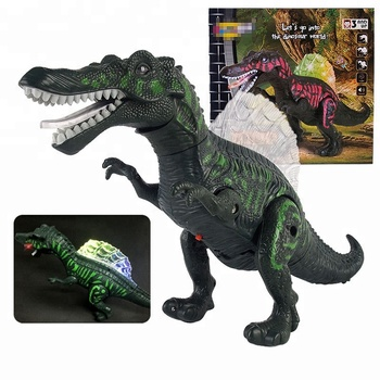 2017 Wholesale Electronic Spinosaurus Dinosaur Toy w/Lights Sounds & Walking Action