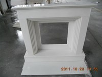 China cheap new products marble double fireplace design