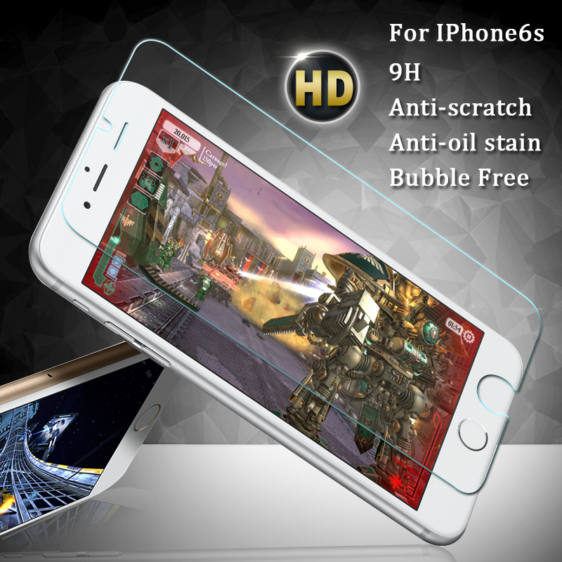 HD Clear Screen Protector For Iphone 6s Tempered Glass 2.5D.