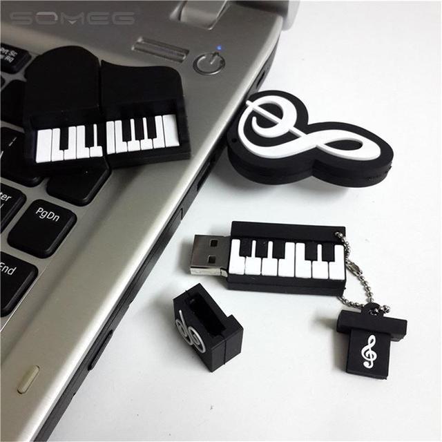 Beautiful Rectangle Music piano Plastic Cartoon Model 2.0 USB flash drive pen drive memory stick 1GB 2GB 4GB 8GB 16GB 32GB 64GB