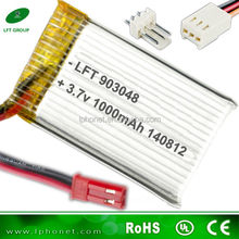 lipo battery 903048 rechargeable li-polymer battery 3.7v 1000mah for nine eagle 3.7v rc helicopter battery