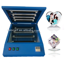Diy Design Image 3D Digital Photo Uv Curing Heat Transfer Crystal Printing Machine