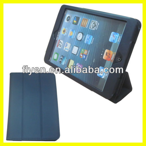 Fold Case Solid Color Tri-folio 360 Rotating Stand for 7.9 inch Tablet PC Leather Case for iPad Mini Manufacturer Wholesale