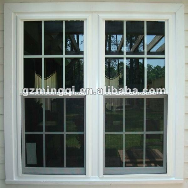 pvc vertical sliding pull up window