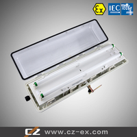 ATEX IECEX certified GRP explosion proof T8 LED lighting fixture G13 Plastic Boty
