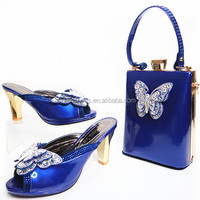 New Fashion African Shoe And Bag Set For Party/Italian Shoe With Matching Bag/New Design Ladies Matching Shoe And Bag TH16-48