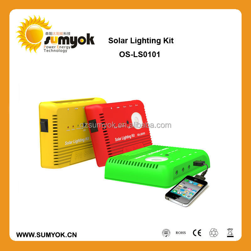 Promotion!!Christmas 5W mini solar led kit with 8Ah lithium battery for hiking