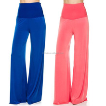 yoga pants wholesale Solid High Waisted Wide Leg Palazzo Pants womens harem trousers