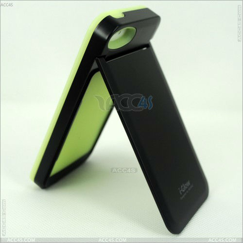 PC+Silicone Mirror Luminous Shell Case Cover for iPhone 5 P-IPH5HC035