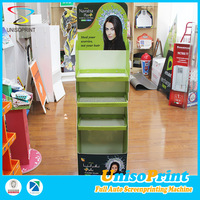 UNISO Wholesale and retail new products paper corrugated portable makeup mac cosmetic display stand